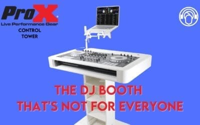 A Portable DJ Booth That's Not For Everyone – ProX XZF-DJCT-W Control Tower Review